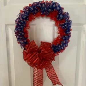 Patriotic wreath. Get ready for Memorial Day/July4